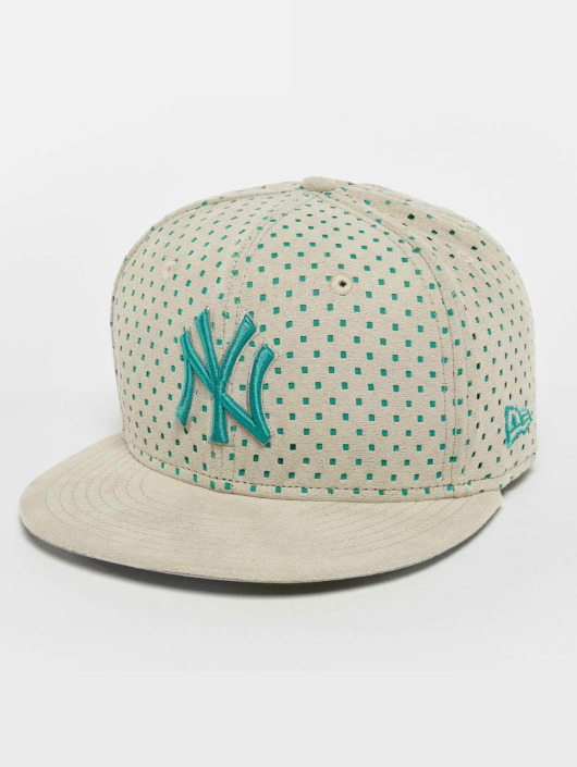 New Era Fitted Cap Suede Perf NY Yankees 59Fifty grå