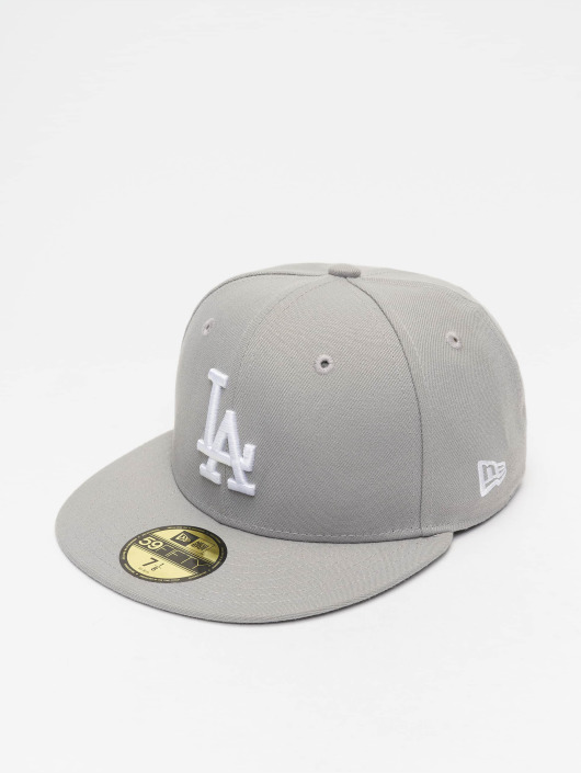 New Era Fitted Cap MLB Basic LA Dodgers 59Fifty in grau 44287 94bddf508339