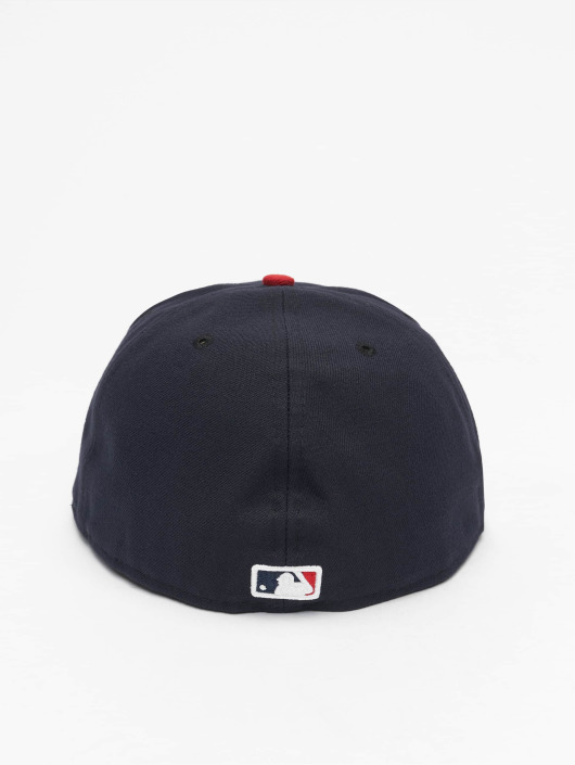 New Era Fitted Cap Acperf Cleveland Indians 59Fifty modrá