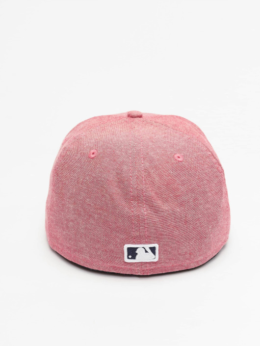 New Era Fitted Cap Chamsuede LA Dodgers red