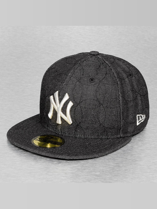 New Era Fitted Cap Denim Quilt NY Yankees schwarz