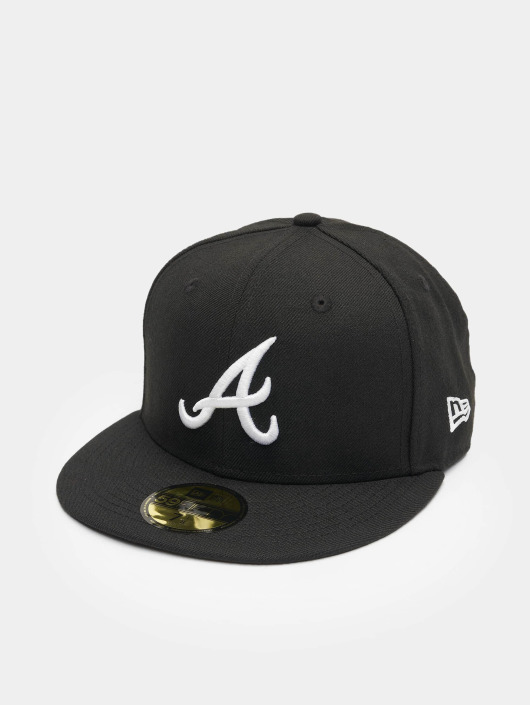 New Era Fitted Cap MLB Basic Atlanta 59Fifty schwarz