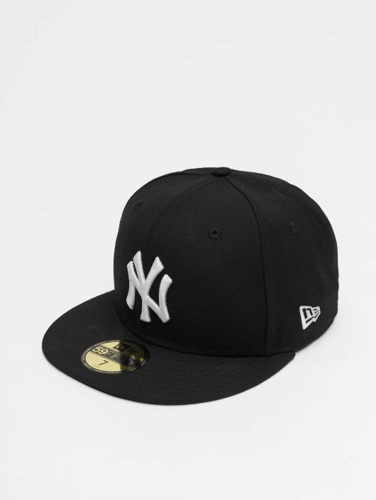 fb2410b3d91 New Era Fitted Cap MLB Basic NY Yankees in schwarz 5238