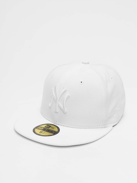 New Era Gorra   Gorra plana Optic NY Yankees 59Fifty en blanco 30794 29ed2b60bd95