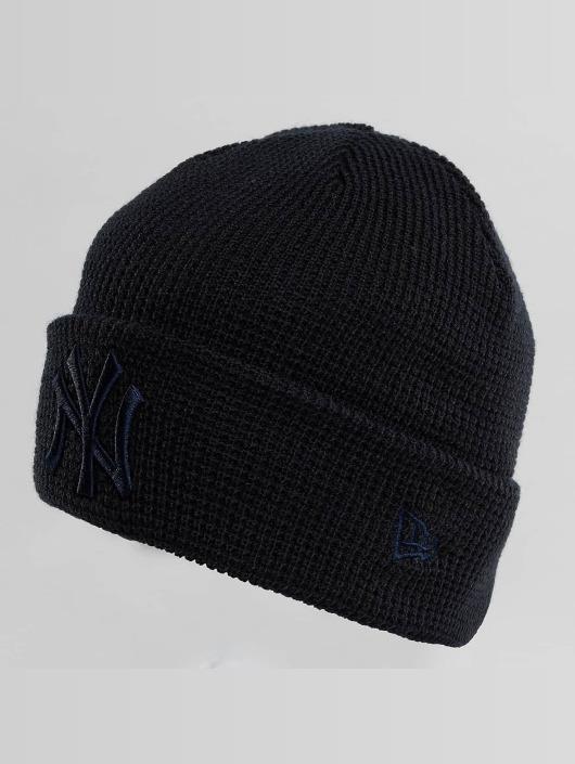 New Era Hat-1 New Era Essential Waffle Knit NY Yankees Beanie black