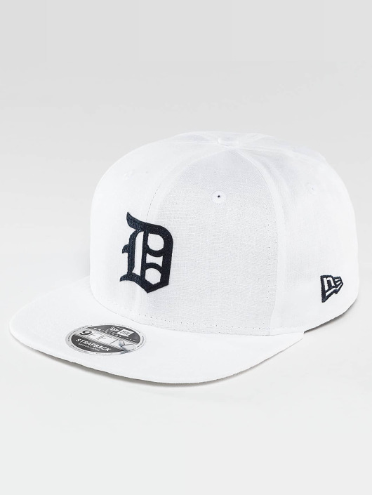 New Era Snapback Linen Felt Detroit Tigers Cooperstown biela