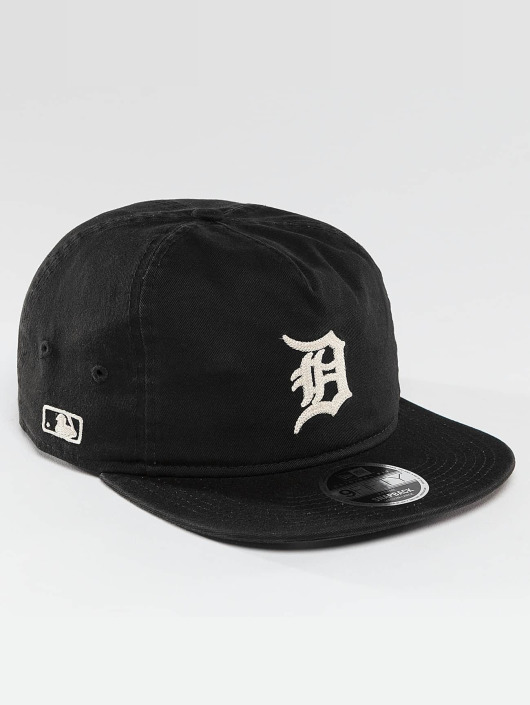 New Era Snapback Cap Chain Stitch Detroit Tigers black