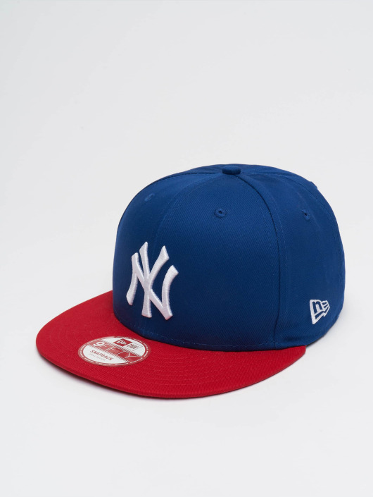 New Era Snapback Cap MLB Cotton Block NY Yankees blue