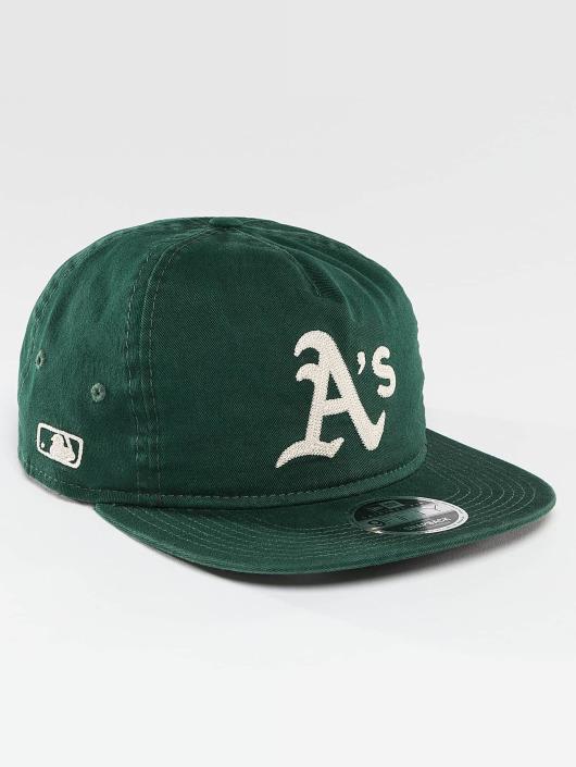 New Era Snapback Cap Chain Stitch Oakland Athletics green