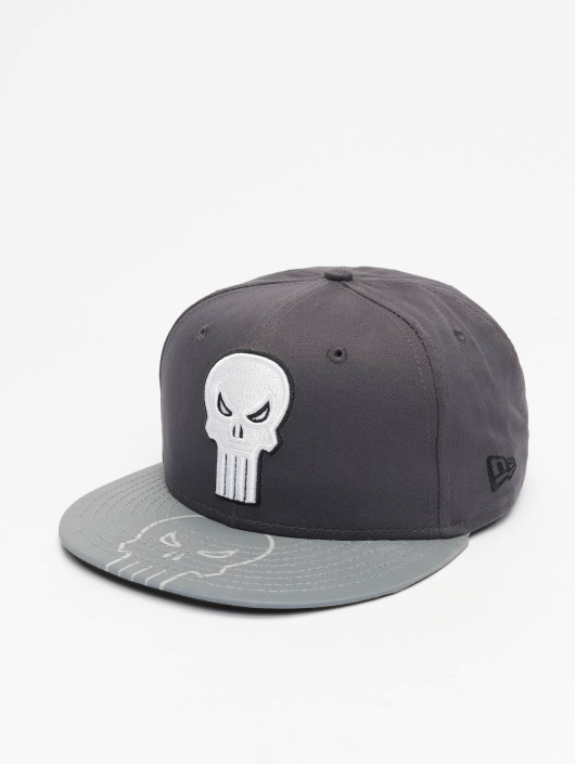 New Era Snapback Cap Reflecto Punisher grey