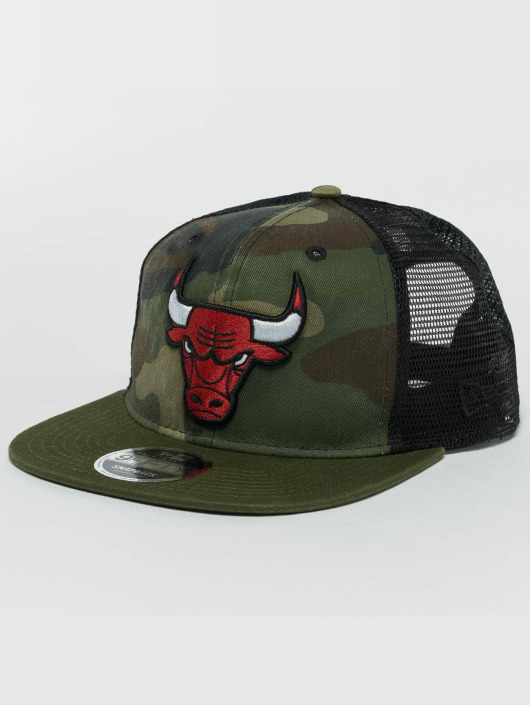 New Era Snapback Cap Washed Camo Chicago Bulls mimetico