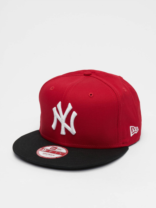 New Era Snapback Cap MLB Cotton Block NY Yankees rot