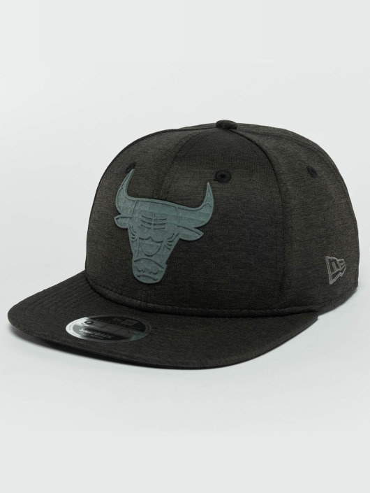 New Era Snapback Cap Concrete Jersey Chicago Bulls 9Fifty schwarz
