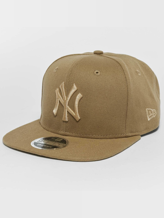 New Era Snapback Caps Canvas NY Yankees 9Fifty béžový