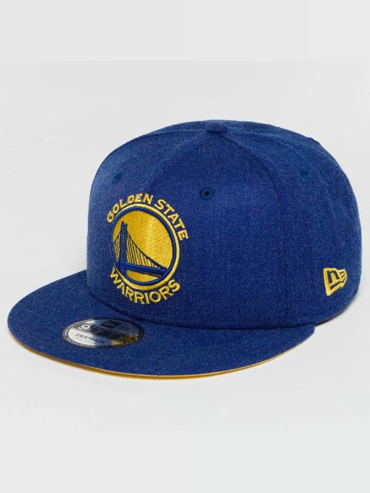 New Era Snapback Caps Team Heather Golden State Warriors blå