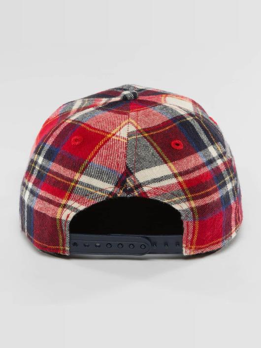 New Era Snapback Caps Plaid Brooklyn Dodgers 9Fifty czerwony