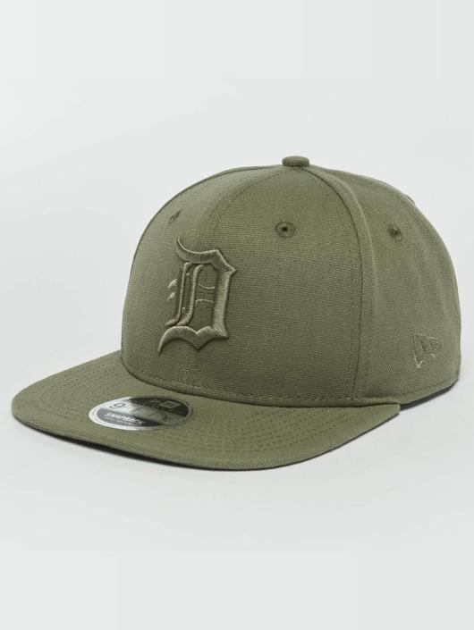 New Era Snapback Caps Canvas Detroit Tigers 9Fifty hnědožlutý