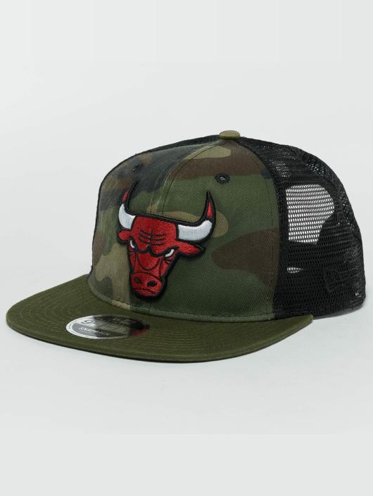 New Era Snapback Caps Washed Camo Chicago Bulls moro