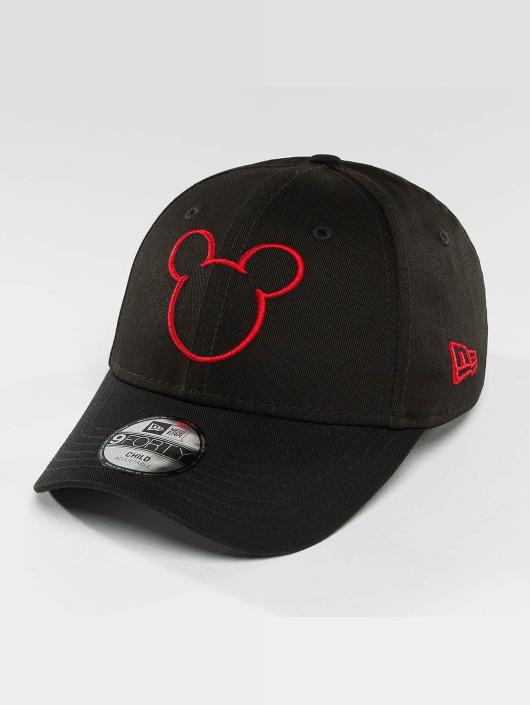 New Era Snapback Caps Disney Silhoutte Micky Maus JR musta