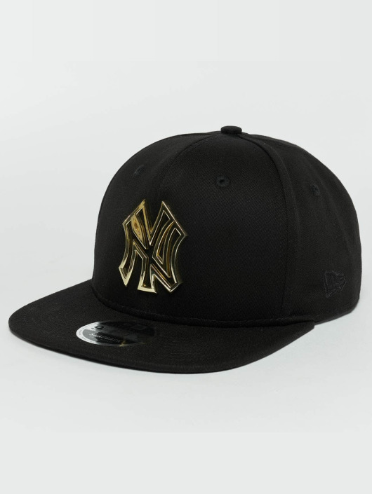 New Era Snapback Caps Metal Badge NY Yankees svart