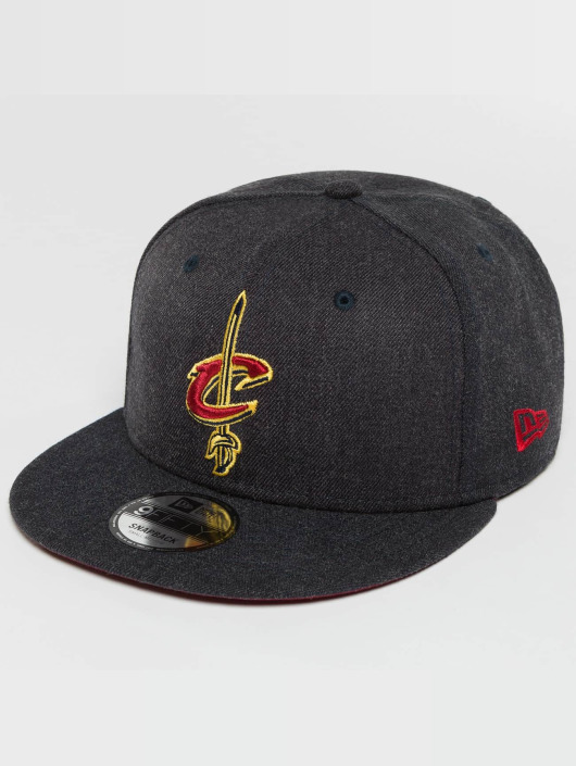 New Era Snapback Caps Team Heather Cleveland Cavaliers szary