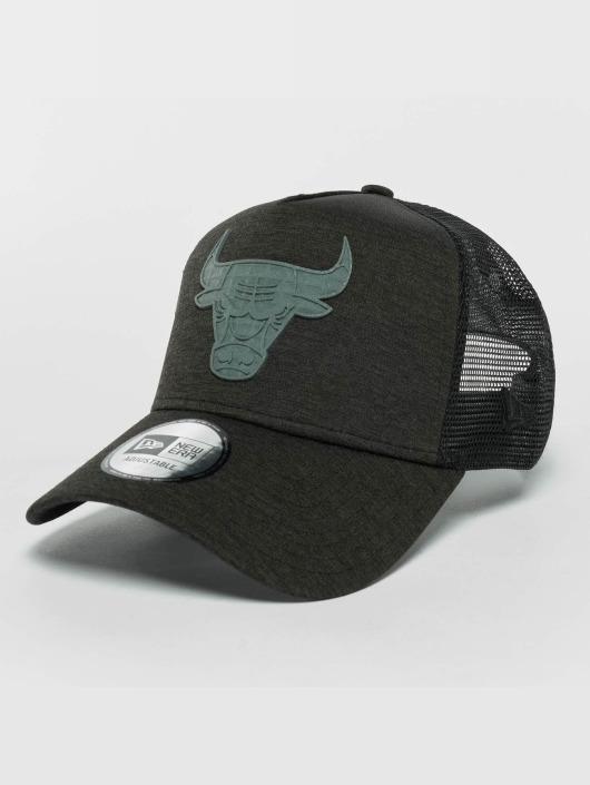 New Era Trucker Cap Concrete Jersey schwarz