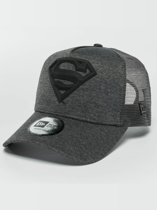 New Era Trucker Caps Concrete Jersey Superman šedá