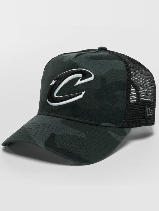 New Era Trucker Caps Washed Camo Cleveland Cavaliers Trucker Cap kamufláž