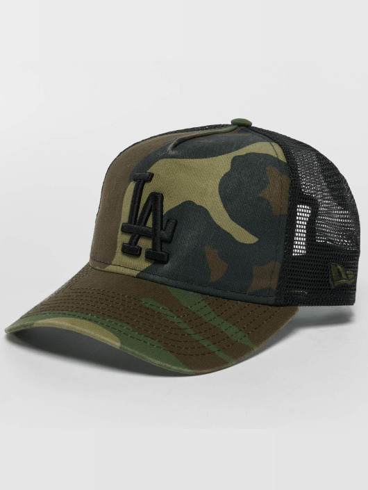 New Era Trucker Caps Washed Camo LA Dodgers moro