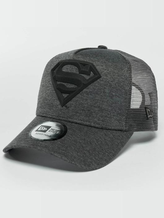 New Era Trucker Caps Concrete Jersey Superman szary