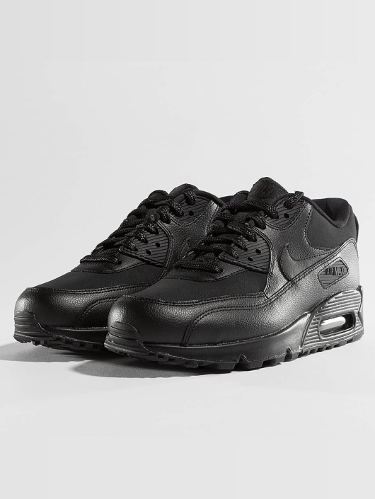 meilleur authentique ec87c bfdf8 Nike Air Max 90 Leather Sneakers Black/Black/Blue Tint