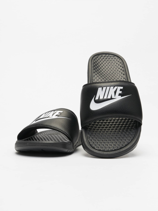 best website look out for reliable quality Nike Benassi JDI Sandals Black/White