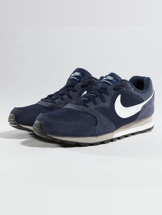 laatst mannen / man word nieuw Nike MD Runner 2 Sneakers Midnight Navy/White/Wolf Grey