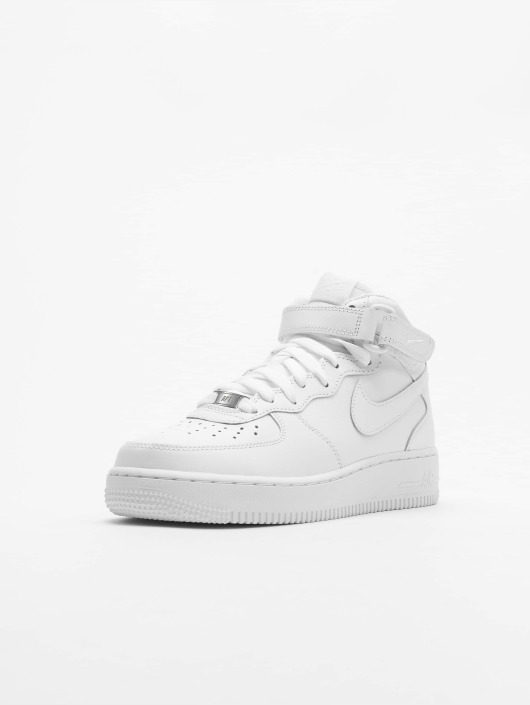 Nike Tøysko Air Force 1 Mid '07 Basketball Shoes hvit
