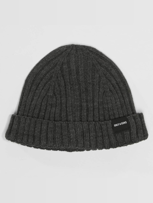 Only & Sons Luer onsChris Beanie & Scarf grå