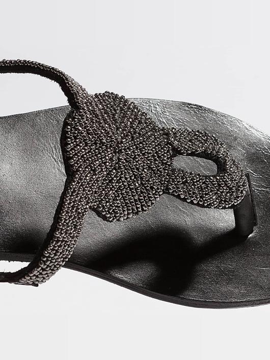 Pieces Žabky PSCarmen Leather èierna
