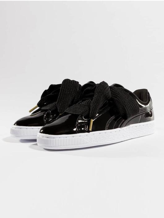 Puma Basket Patent Sneakers Black Heart 47vw4Zpq