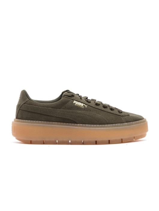 Puma Damen Sneaker Suede Platform in grün 551403