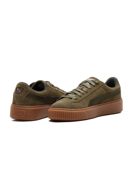 Puma Damen Sneaker Basket Platform Animal in grün 553332