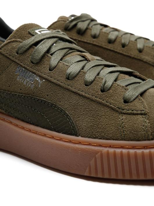 Puma Basket Platform Animal Green