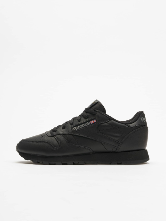 Reebok   CL Leather noir Femme Baskets 276310 2ea77be00465