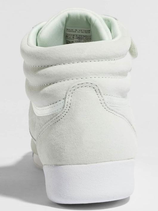 Reebok schoen sneaker Freestyle Hi Nubuk in groen 419940