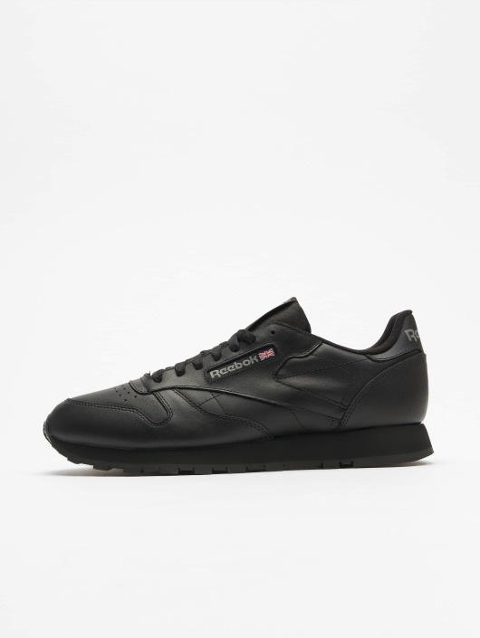 buy popular 828e9 90b90 Reebok Classic Leather Sneakers Black
