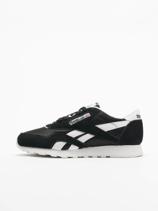 newest 0e346 7bcd3 Reebok Classic Leather Sneakers Nylon black