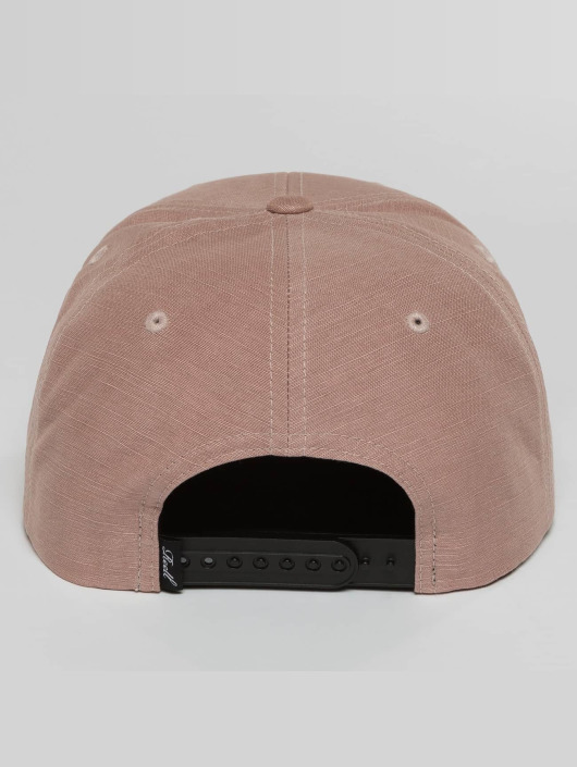 Reell Jeans snapback cap Suede pink