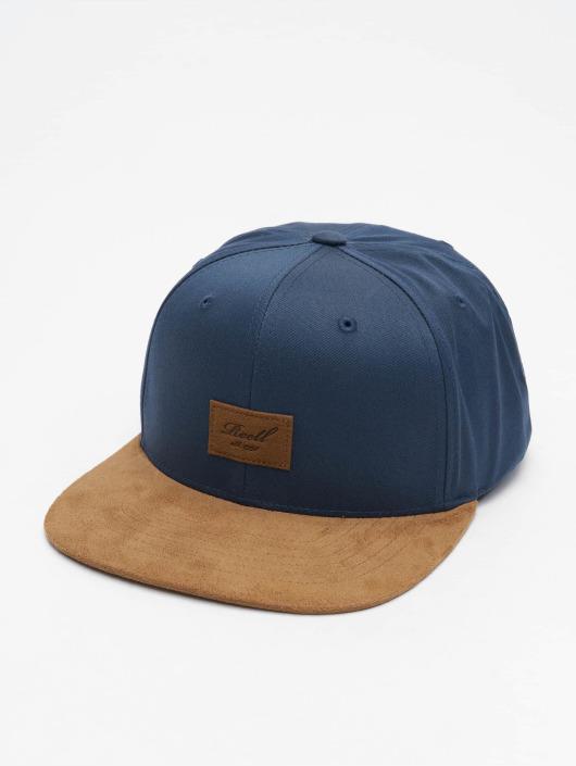 Reell Jeans Snapback Caps Suede blå
