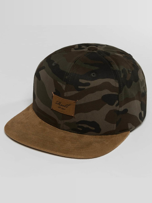 Reell Jeans Snapback Caps Suede kamufláž