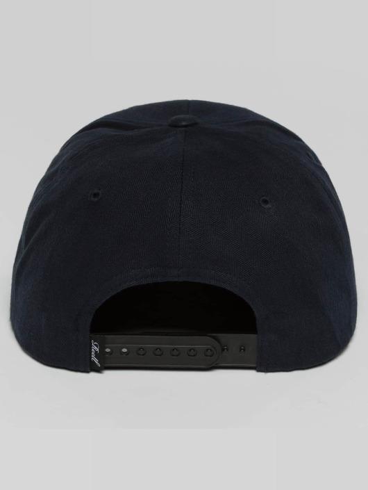 Reell Jeans Snapback Caps Suede modrý