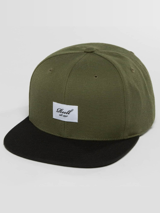 Reell Jeans Snapback Caps Pitchout oliivi