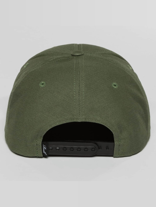 Reell Jeans Snapback Caps Suede olivový